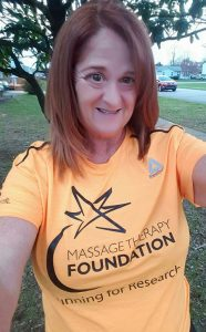 Collette Wilson in TeamMTF tech shirt